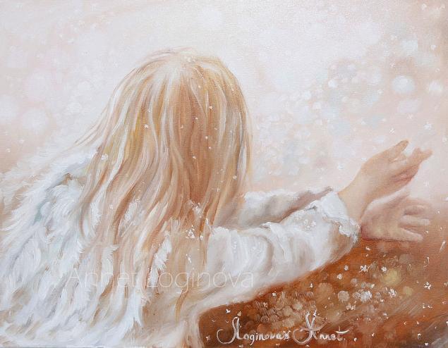 девочка, ангел, рождественский ангел