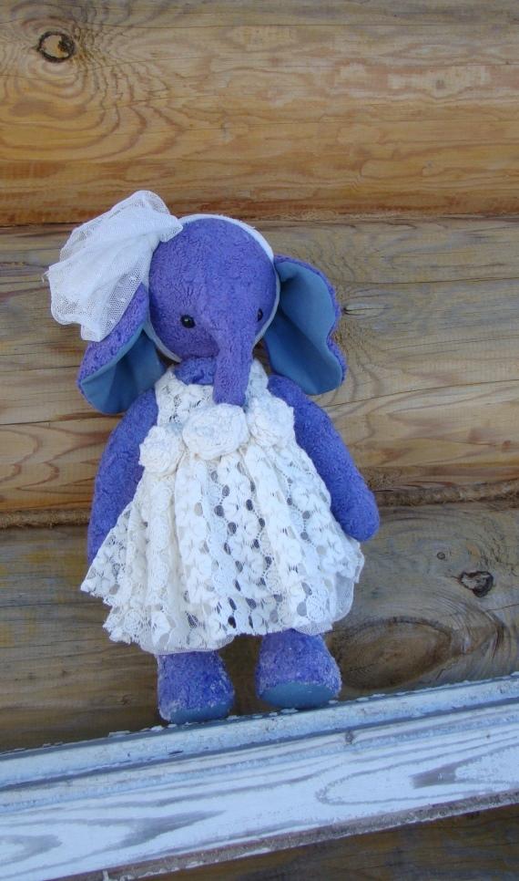 слоник тедди, невеста, опилки, авторская работа