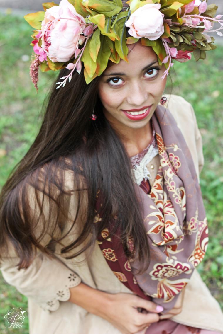 платья, шелковый платок, осень