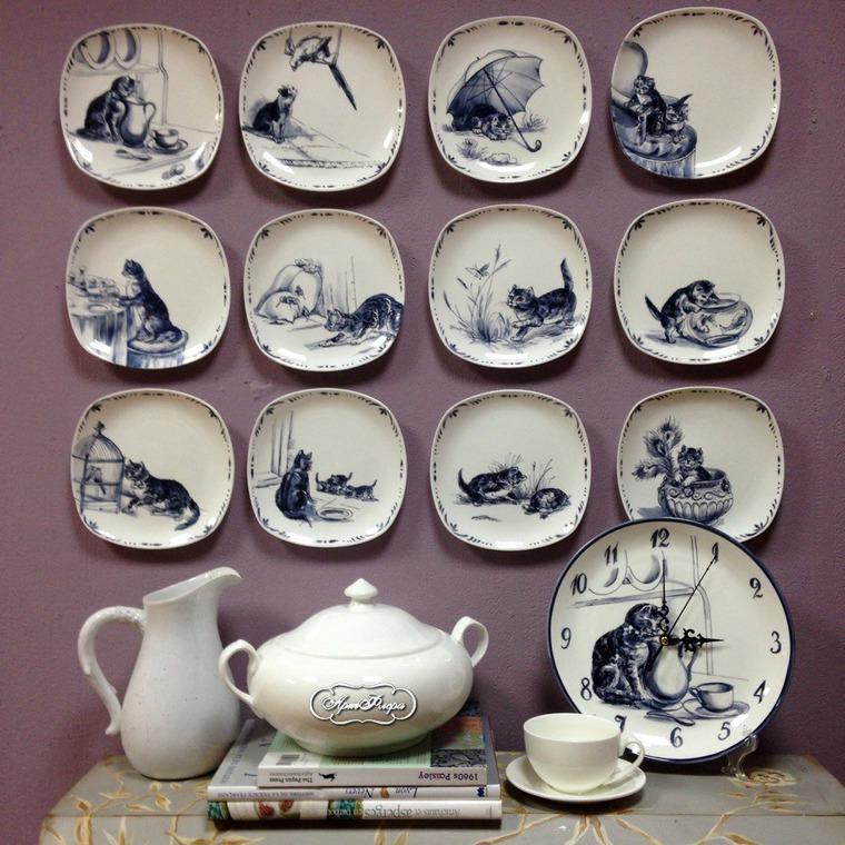 Декорирование стен тарелками, фото № 21
