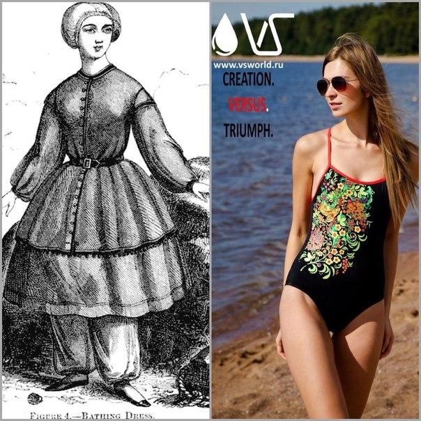 мода, купальник, история
