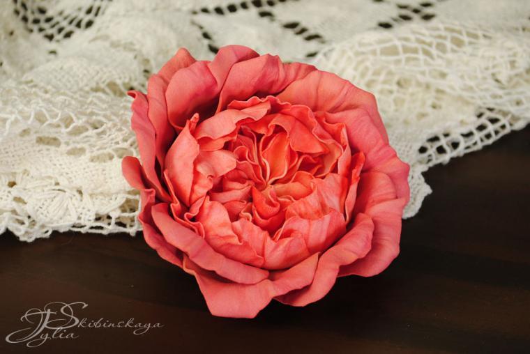 Как сделать английскую розу из фоамирана