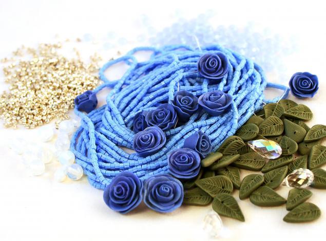 серьги с цветами, комплект с цветами