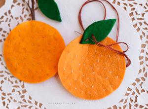 мандарин, игрушки из фетра