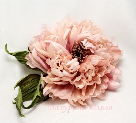 мастер-класс, цветоделие, брошь-цветок