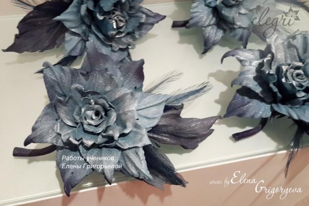 кожаная флористика, купить цветы из кожи, купить розу, цветы