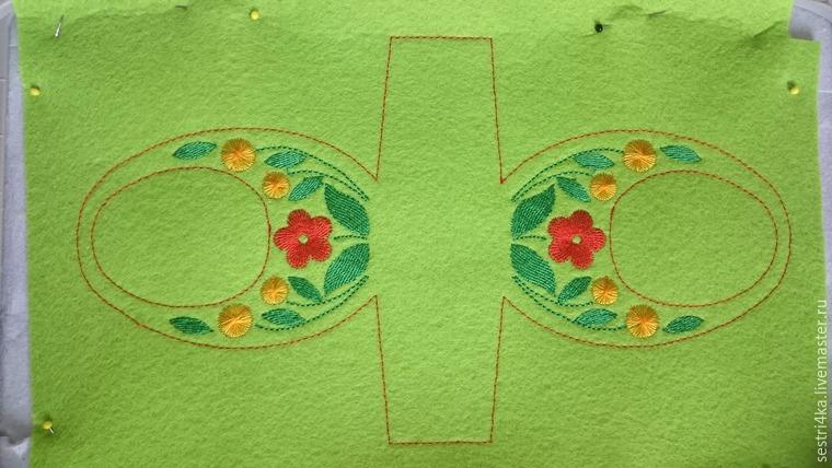 Делаем корзиночку для пасхального яйца из фетра, фото № 12