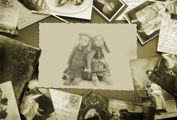 коллекционная кукла, лисичка, винтажный стиль