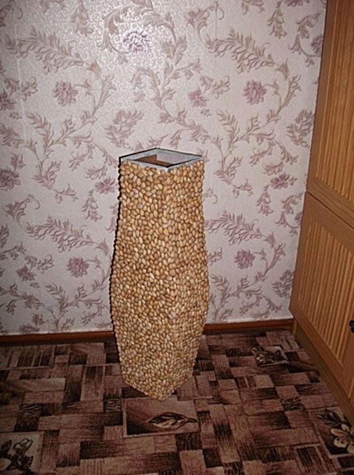 Напольная ваза сделанная своими руками