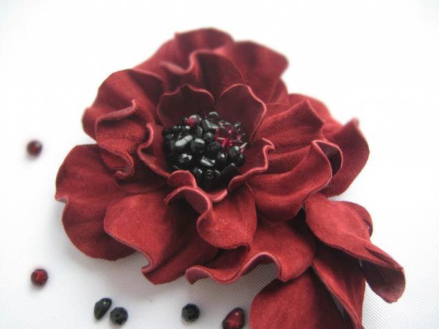 Мк цветы из кожи выкройки