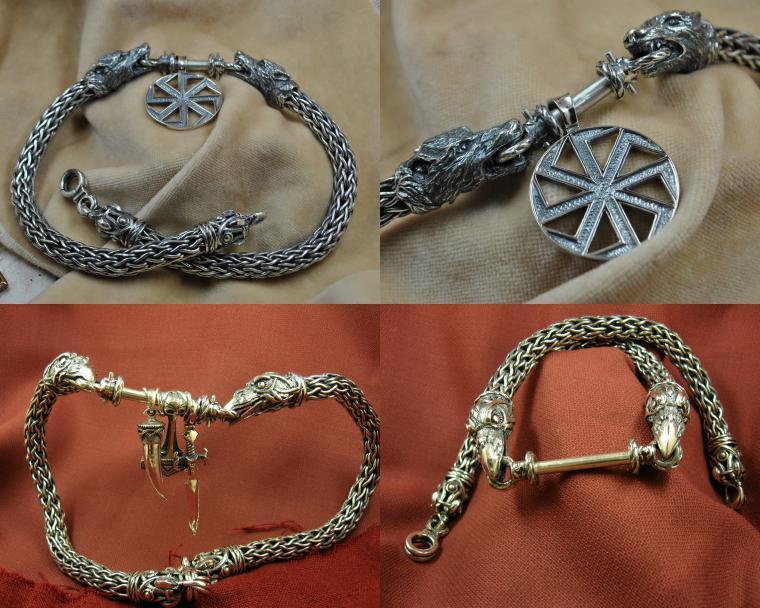 серебряные цепи, серебряный браслет, цепи своими руками