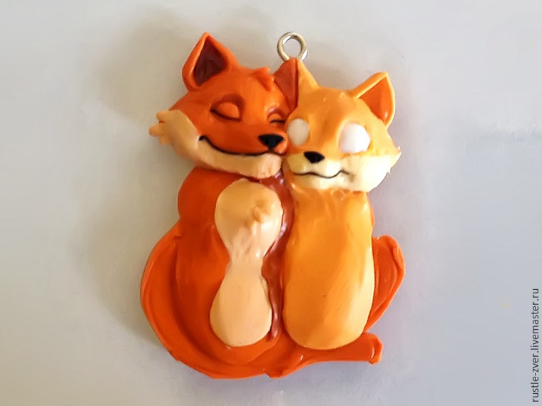 Modeling A Pendant Foxes in Love, фото № 20
