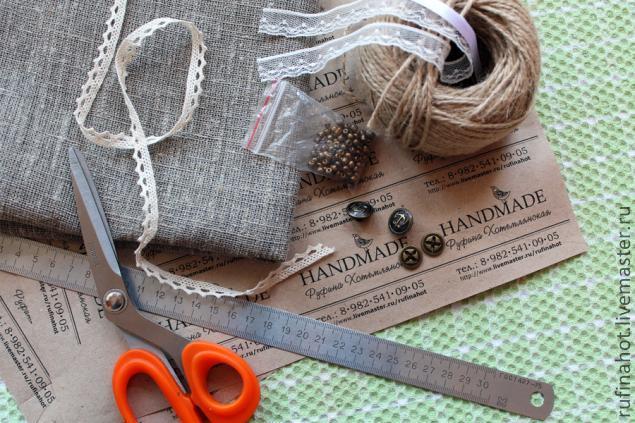 текстильная визитка
