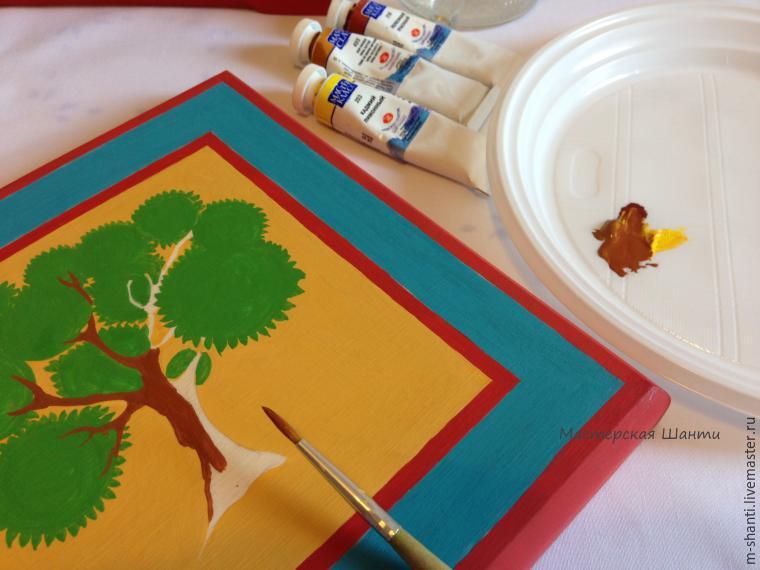 Расписываем яркую шкатулку-развивайку для детей, фото № 16
