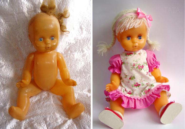 Как сделать из старой куклы новые