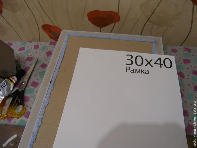 Оформление готовой вышивки в рамку, фото № 14