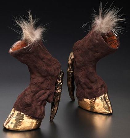лошадь, креативная обувь, современный дизайн