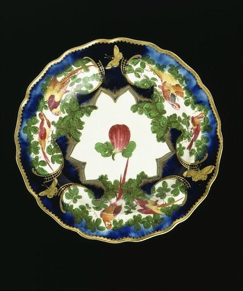 LavishShoestring.com   Fruit dish Place of origin: London, England (made) Date: 1759-1769 (made) Artist/Maker: Chelsea Porcelain factory (maker) Materials and Techniques: Soft-paste porcelain, painted in enamels and gilt