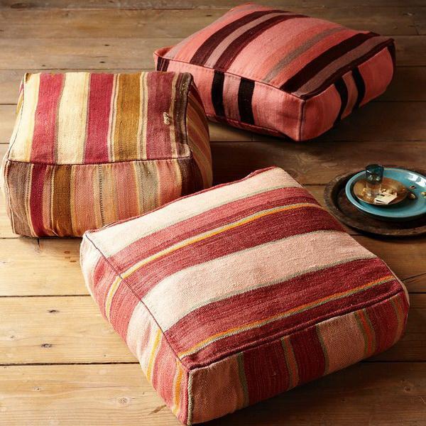 Как сделать напольные подушки