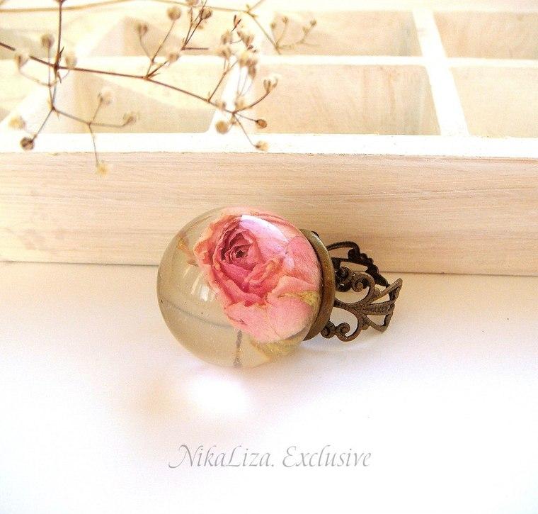 смола украшения, роза кулон