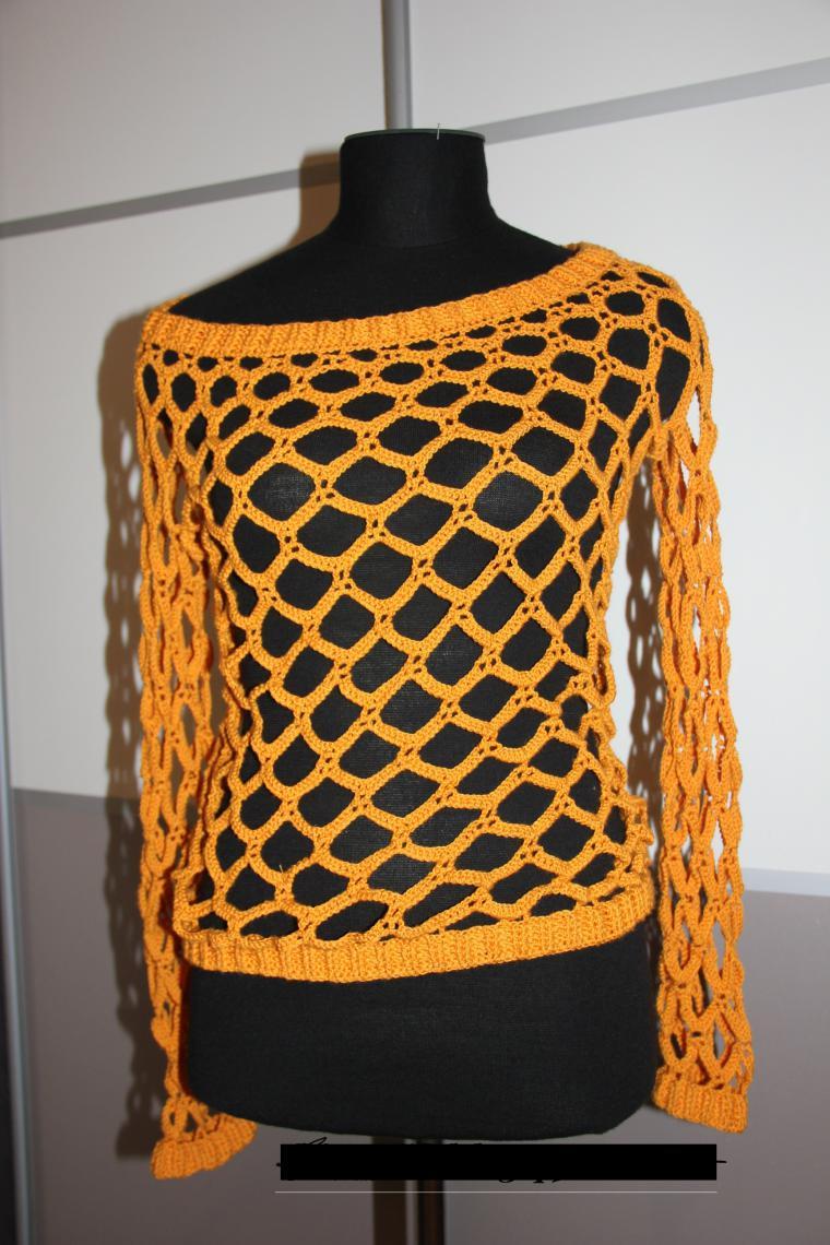 Вязание кофт в сетку 578