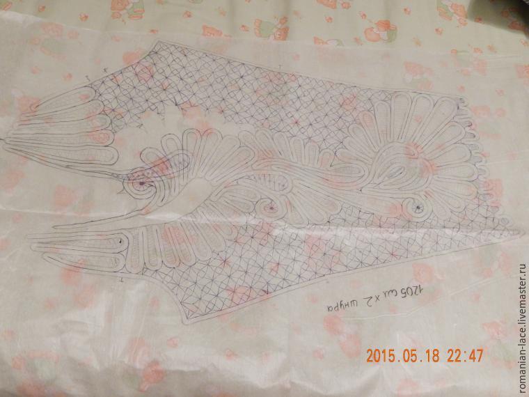 Цветы узоры для румынского кружева