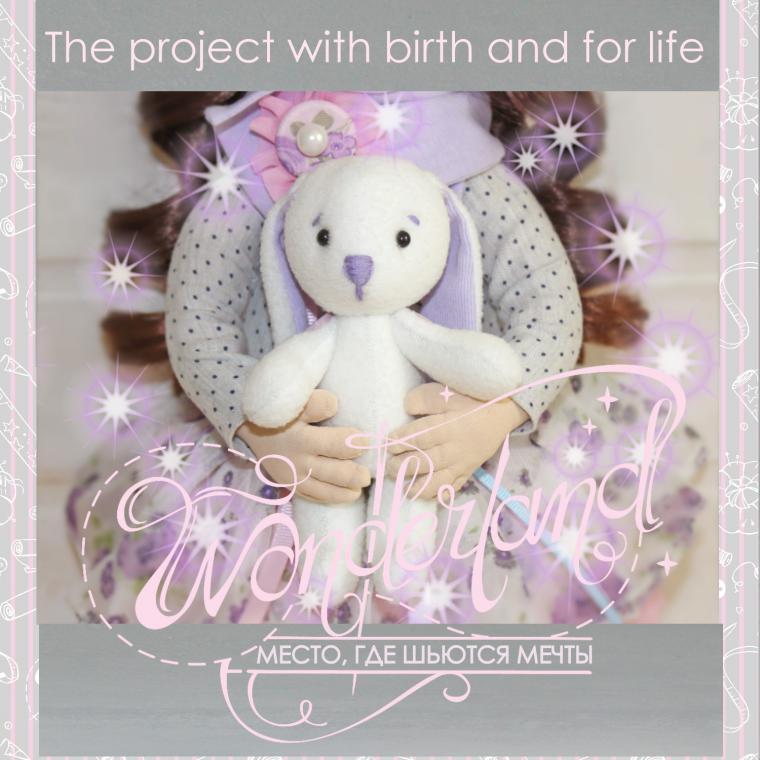 wonderland, кукла с рождения, проект своими руками