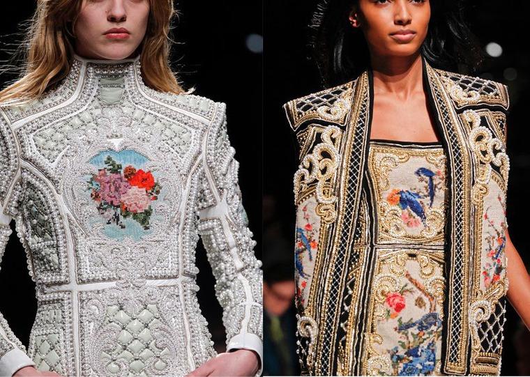 одежда из гобелена, барокко