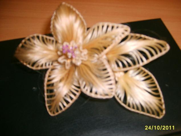 Цветы из волос мастер класс