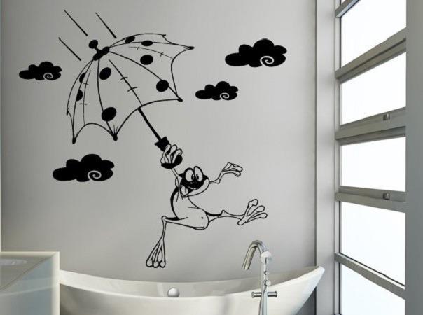 Трафареты для декора стен в ванной