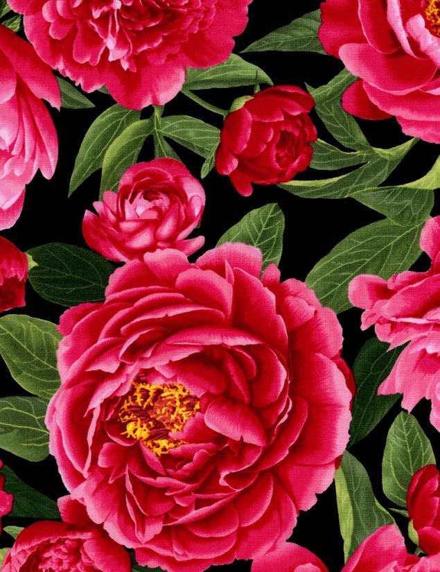 новости магазина, лоскутное шитье ткань, красный цветок