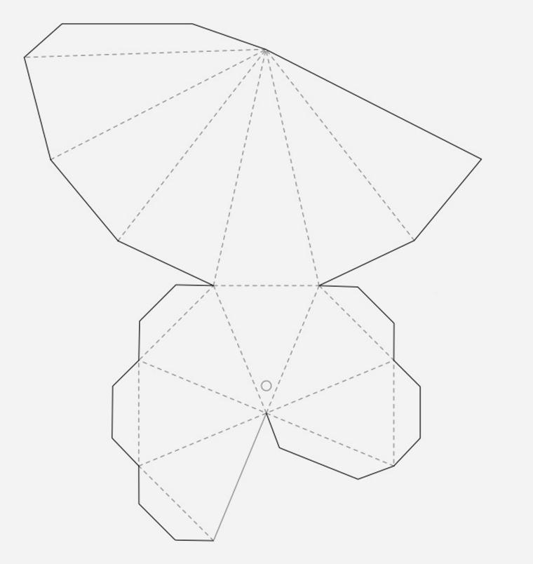 Как сделать объемные фигуры из бумаги своими руками схемы шаблоны 68