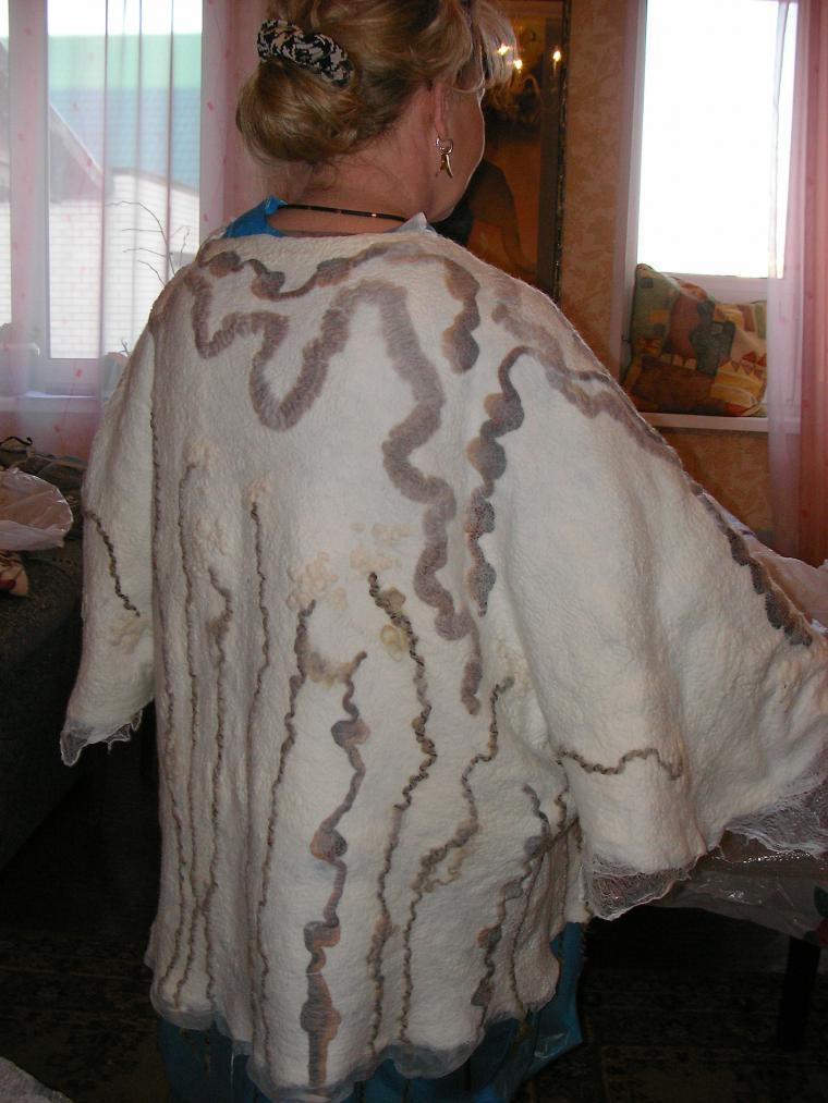 валяние на шаблоне, валяная одежда