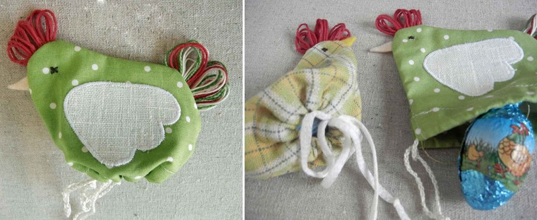 Подарки к пасхе из ткани своими руками