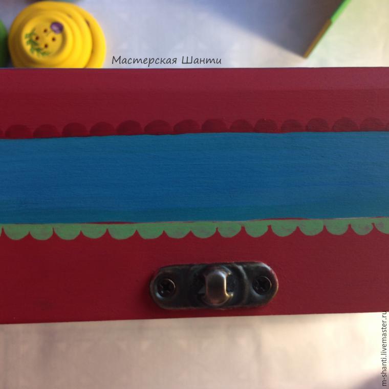 Расписываем яркую шкатулку-развивайку для детей, фото № 30