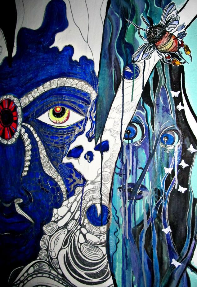 роспись стен, сказочный лес