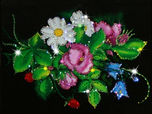картина с кристалами