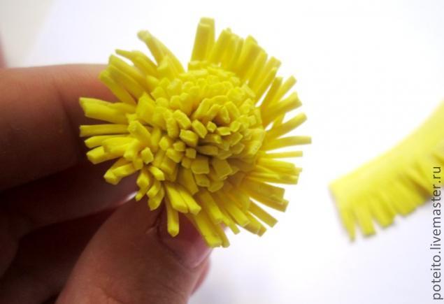 Мастер класс лепки одуванчика из полимерной глины