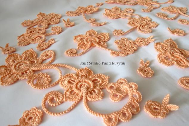болеро ирландское кружево, вязание на заказ