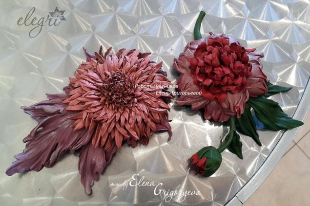 авторские цветы, брошь хризантема, мастер-класс хризантема, цветы из кожи, розовый цветок, кожаная флористика, брошь-хризантема, кожаный цветок, кожаный аксессуар, купить цветы из кожи