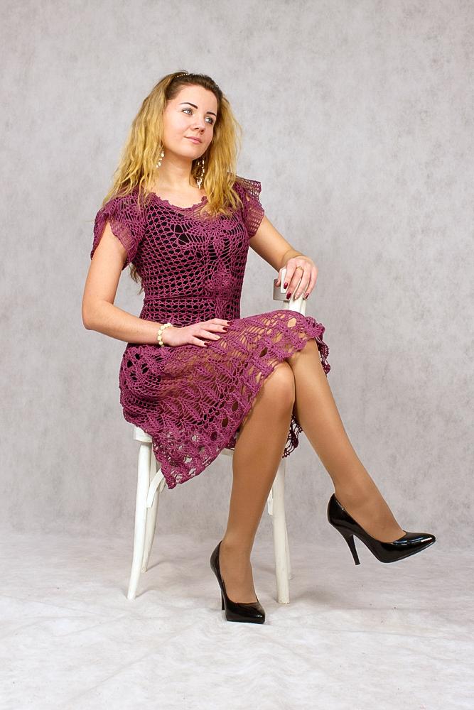 купить платье ажурное, вяжем на заказ