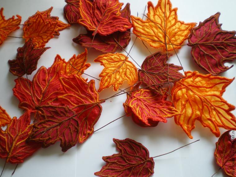 Большие осенние листья из бумаги своими руками 40