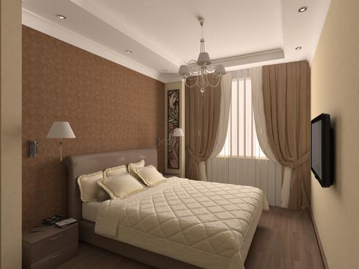 Спальня коричневая дизайн