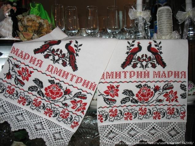 свадебный рушник, славянский