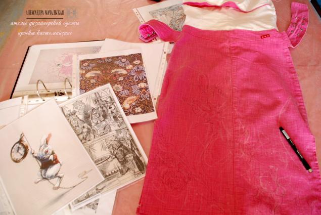 платье, shocking pink, кастомайзинг