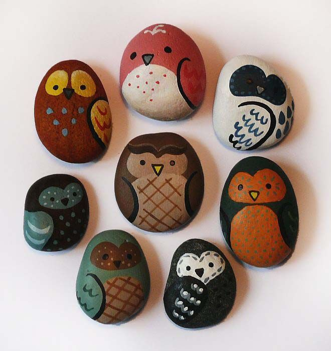 Owl rocks. I LOVE THESE!