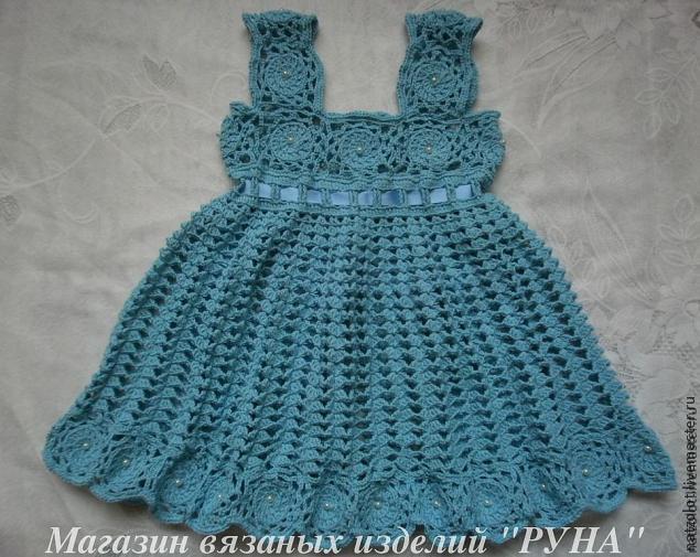 мастер-класс, детское платье крючком