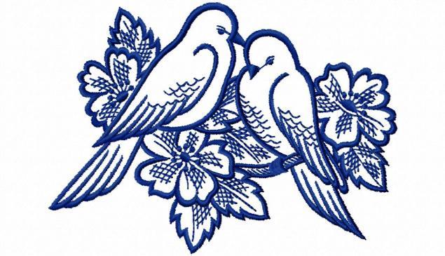 Голуби для вышивки картинки