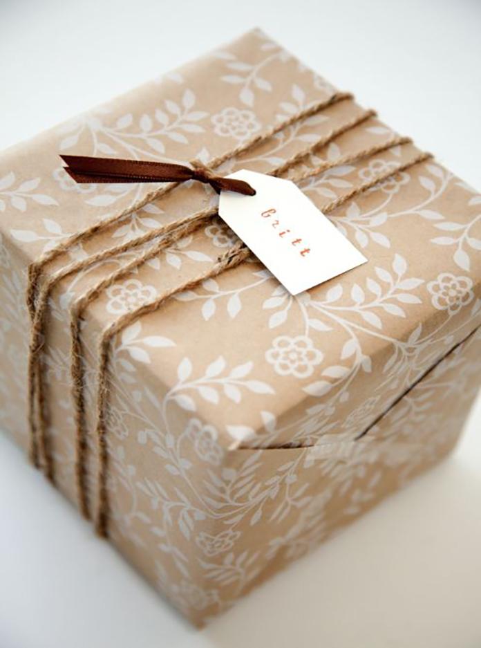 Как сделать из крафт бумаги упаковку для шоколада 108