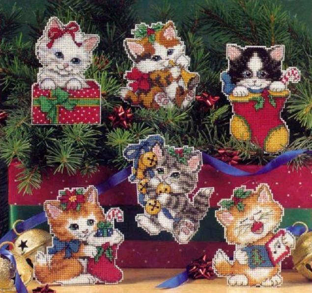 Новогодние коты игрушки своими руками